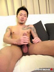 japanese hunk takes off