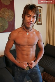 asian stud slowly peels