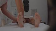 astonishing long-legged getting massage