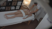 horny masseur oiling and