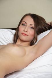 brunette got large bed