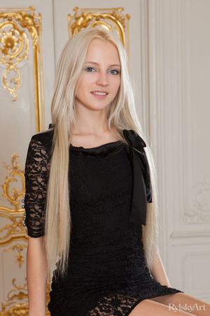 Blonde Fucked Black Dress