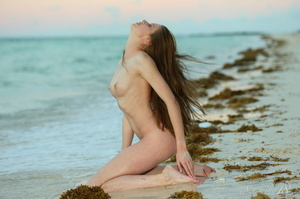 Sexy brunette with long hair and white u - XXX Dessert - Picture 10
