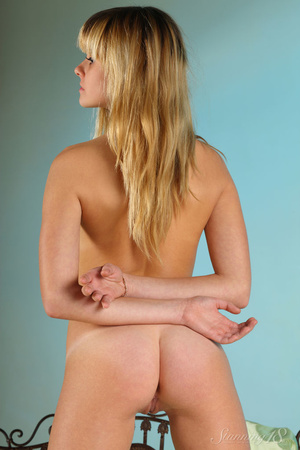 Blonde with bangs and blue eyes wearing  - XXX Dessert - Picture 15