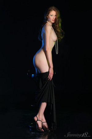 Brunette in black gown reaveal milky whi - XXX Dessert - Picture 7