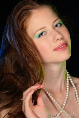 Brunette in black gown reaveal milky whi - XXX Dessert - Picture 16