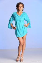 horny girl blue dress