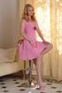 horny blonde pink dress