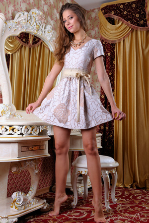 Young brunette pulls off her little dres - XXX Dessert - Picture 2