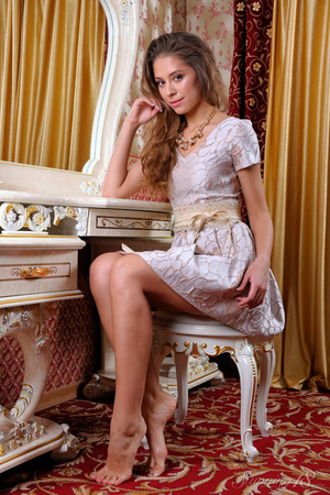 Young brunette pulls off her little dres - XXX Dessert - Picture 4