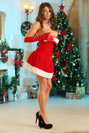 hot model christmass attire