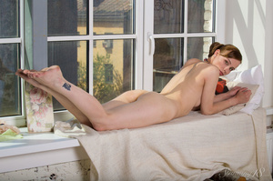 Brunette in seethrough lace poses sinful - XXX Dessert - Picture 5