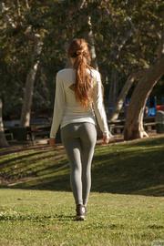 sporty girl's gray leggings