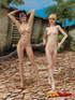 Slender, edgy ladyboys show off their hot bodies and big dicks in a rocky,