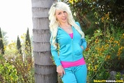curly hair blonde gal