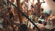 lots naked guests drinking
