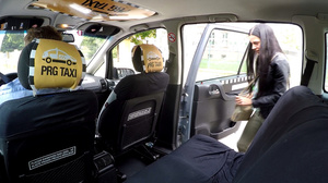 Lewd taxi-driver seduces small-titted br - XXX Dessert - Picture 2