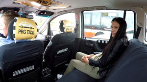 Lewd taxi-driver seduces small-titted br - XXX Dessert - Picture 4