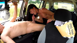 Lewd taxi-driver seduces small-titted br - XXX Dessert - Picture 11