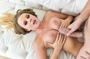 blonde-haired brown-eyed slut gets