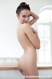 hot slim model shows