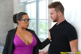 big tits, black, milf, sucking