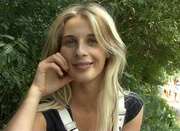 blonde freshie black vest