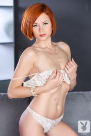 luring redhead white mesh