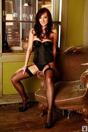 naughty brunette black corset