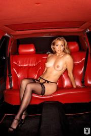 sexy blonde black lingerie