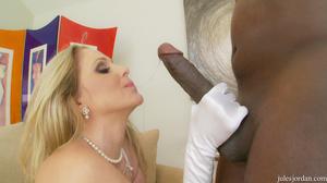 Big boobs blonde MILF in white lingerie  - XXX Dessert - Picture 6