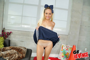 blonde girl cheerleader uniform