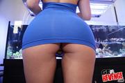 teen blue dress and
