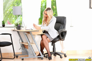 business woman sheds gray