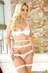 sultry blonde wife white
