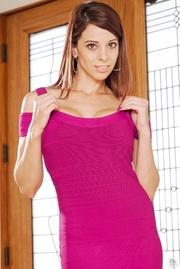 slim brunette hottie pink