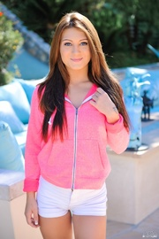 shapley brunette pink jacket