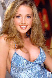 antalizing blonde wearing blue