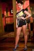 gorgeous brunette black bodysuit