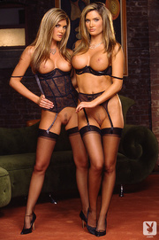 twins blonde sisters are