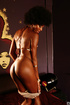 afro babe shows off