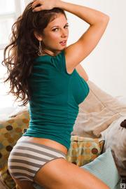 brunette green shows her