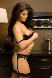 sexy brunette black lingerie