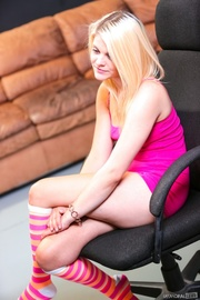 tattooed hot blonde pink