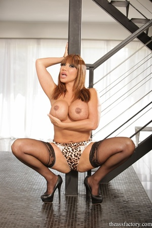Hunky brunette wearing a leopard printed - XXX Dessert - Picture 7