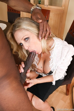 Charming blonde in a white shirt and bla - XXX Dessert - Picture 12