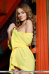 young brunette yellow robe