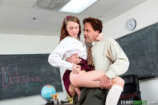 naughty brunette school girl