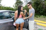 skinny latina brunette gets