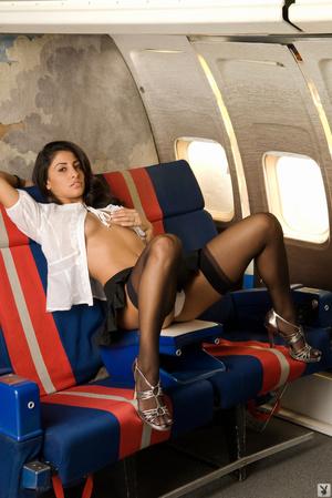 Slutty brown-eyed brunette flight attend - XXX Dessert - Picture 3